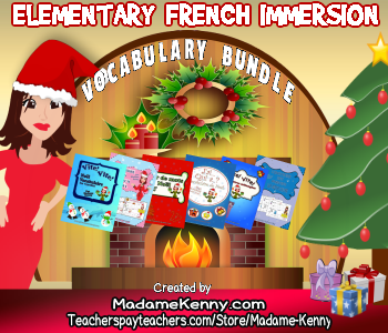ELEMENTARY FRENCH IMMERSION VOCABULARY